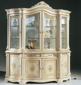 VIG Furniture VGFMREGINA-4DR-CHINA-WHT Regina Traditional Italian Antique White 4 Door China Cabinet