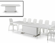 Vig Vggu-Bono2-Hy142Ch-Wht Bonotmodern White Leather Chairdining Set