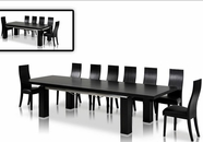 IG-Furniture-VGGU-Maxi-ESCAPEBLK Maxi-Table-Escape-Chair Black Oak Dining Set