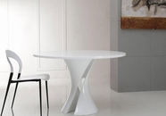 VIG Furniture VGGU1154DT Curl - Modern White Lacquer Round Dining Table