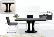 VIG Furniture VGGU2331XT Split - Modern Black Extend-able Dining Table