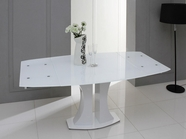 VIG Furniture VGGU2331XT-WHT Split - Modern White Extend-able Dining Table