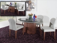 VIG Furniture VGGU2609XT-3 Swing - Modern Grey Walnut Veneer Dining Table