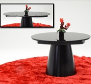 VIG Furniture VGGU2609XT-Black Savor Modern Round Matt Black Dining Table