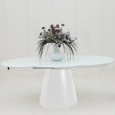 VIG Furniture VGGU2609XT-White Savor Modern Round White Matt Dining Table