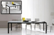 VIG Furniture VGGU2683XT 2683XT - Modern Extendable Glass Dining Table