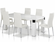 Vig Vggu616-1 Escape-White Dining Set