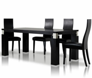 Vig Vggu616-2 Escape-Black Oak Dining Set