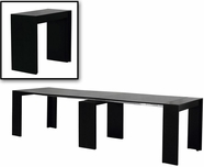 VIG Furniture VGGU837XT-BLK Morph - Modern Ultra-Compact Extendable Black Dining Table
