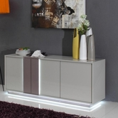 VIG Furniture VGGU840BU-2 840BU-2 - Modern Grey LED Lit Buffet