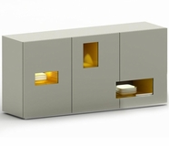 VIG Furniture VGGU840BU Peek - Modern Light Grey Buffet with Lights - 840BU