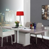 VIG Furniture VGGU840XT-3 Vertigo - Modern Grey LED Lit Dining Table