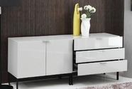VIG Furniture VGGU967BU Tweedle - Modern 2-Piece Lacquer Buffet Set