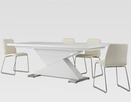 VIG Furniture VGGUBONO-HY173CH-WHT BonoZModern White Dining Set