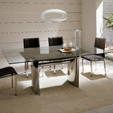 VIG Furniture VGGUWAVES Waves Collection - Modern Luxury Dining Table