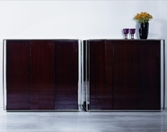 VIG Furniture VGHB131I B131I - Modern Ebony Lacquer Square Buffet