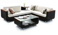 VIG Furniture VGHT-H01V2 H01V2 - Sectional Patio Set with Coffee Table and Side Table