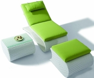 VIG Furniture VGHT-H03 H03 - Sun Bathing Chaise with foot rest and side table