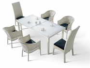 VIG Furniture VGHT-H10 HT-10 White Patio Dining Set