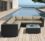 VIG Furniture VGHTDH63 H63 - Modern Patio Sectional Sofa With Coffee Table