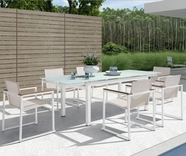 VIG Furniture VGHTDH73 H73 - Modern Patio Extend-able Dining Set