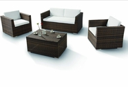 VIG Furniture VGHTH0831 H0831 - 4 Pieces Modern Patio Sofa Set