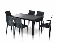 Vig Vgigbistrot-Table-Set Bistrot-Wicker Patio Dining Table Set