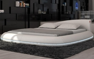 VIG Furniture VGINCERCHIO Cerchio - Modern Eco-Leather Bed with LED Lights