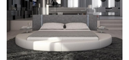 VIG Furniture VGINROTONDO Rotondo - Modern Eco-Leather Bed with LED Lights