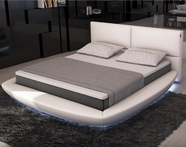 VIG Furniture VGINSFERICO Sferico - Modern Eco-Leather Bed with LED Lights