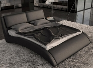 VIG Furniture VGINVOLO Volo - Modern Eco-Leather Bed with Curves