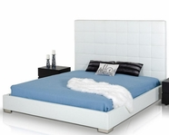 VIG Furniture VGJYFRANCIS Francis - Modern White Leather Bed