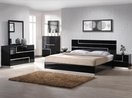 VIG Furniture VGKBMODA Moda - Contemporary Black Bedroom Set