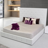 VIG Furniture VGKCELBRUS-WHT Elbrus - White Modern Leather Platform Bed