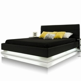 VIG Furniture VGKCINFINITY-BLK Infinity - Contemporary Platform Bed with Lights