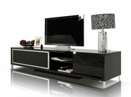 VIG Furniture VGKCKBRIGHTONBLK-M Brighton Mini- Black Entertainment Center