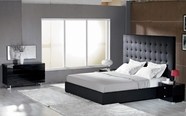 VIG-Furniture VGKCLYRICABLK Lyrica Black Leather-Tall-Headboard-Bed-Dresser-Mirror Bedroom Set