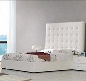 VIG Furniture VGKCLYRICAWHT Lyrica - White Leather Tall Headboard Bed