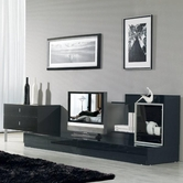 VIG Furniture VGKCMARYLANDBLK Maryland Black 3 Piece Entertainment Center