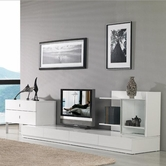VIG Furniture VGKCMARYLANDWHT Maryland White 3 Piece Entertainment Center
