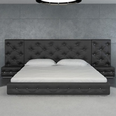 VIG Furniture VGKCMELODY-BLK Melody - Black Modern Leather Platform Bed