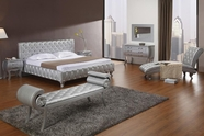 VIG Furniture VGKCMONTEPLATINUM Monte Carlo Platinum-Modern-Bed-with-Crystals-White-Dresser-Mirror Bedroom Set