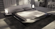 VIG Furniture VGKCOPAL-BLK Opal - Black Gloss Japanese Style Platform Bed