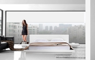 VIG Furniture VGKCOPAL-WHT Opal - White Gloss Platform Bed