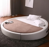 VIG Furniture VGKCOPUS Opus - Modern Round Leather Bed