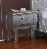 VIG Furniture VGKCPLATINUM-NS Monte Carlo - Transitional Platinum Nightstand