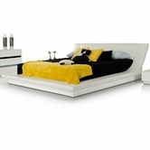 VIG Furniture VGKCPOLAR Polar - Modern White Bedroom Platform Bed