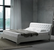 VIG Furniture VGKCSREMO-1 San Remo Full Size Leatherette Modern Bed