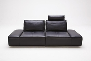 VIG Furniture VGKK1323-BLK Divani Casa Orchid - Contemporary Leather Sofa