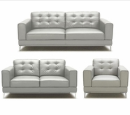 VIG Furniture VGKK1365-WHT Larkspur - Modern White Bonded Leather Sofa Set
